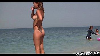 erstaunliche runde Arsch Nudist blonde nackte Strand Voyeur Spycam